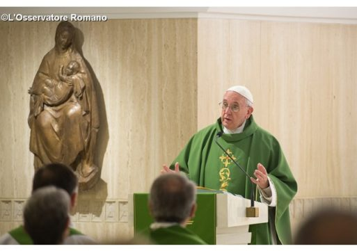 Pope in Santa Marta: lacking tenderness, pastors can become rigid